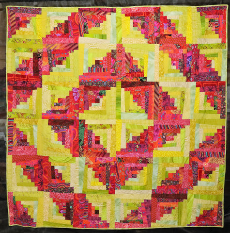 Log Cabin Crazies  Pattern - StoryQuilts.com