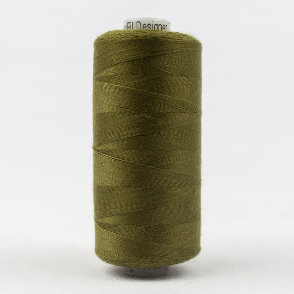 DS104 - Designer 40wt All purpose  Polyester Olive Thread - wonderfil-online-uk