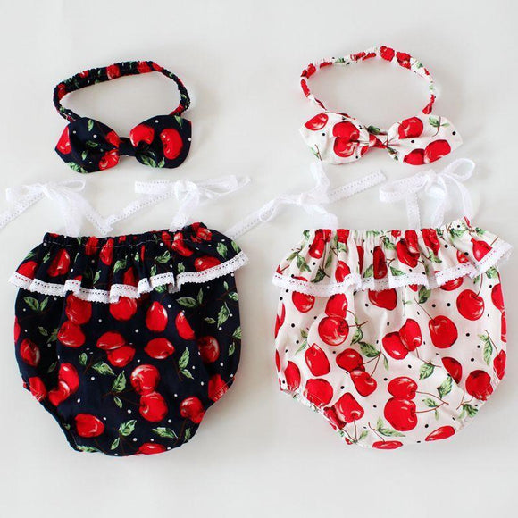 2019 New baby girl onesie cherry baby girls bodysuits little girls clothing summer baby clothes