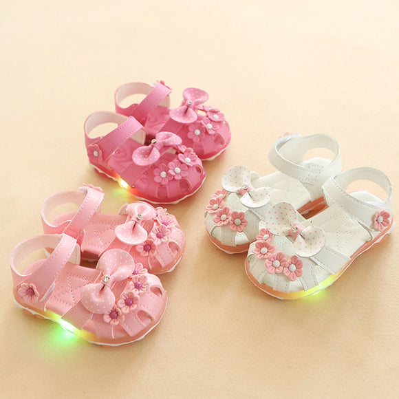 Summer Children's Sandals 2019 Boys'light-emitting Sandals Girls' Babies'shoes, Beach Shoes, Led Light-emitting Shoes   -  Meredith's  Design