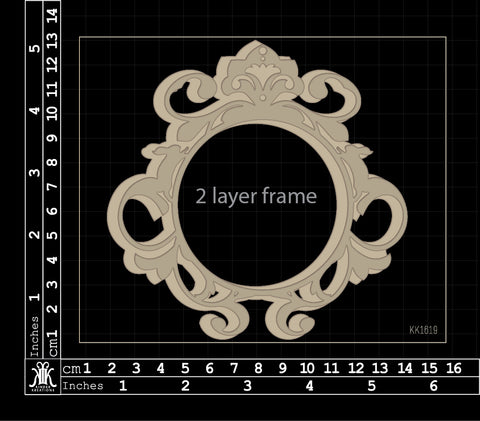 KK1619 Easter Frame (2 layer)