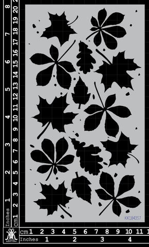 KK1843 Autumn leaves Stencil