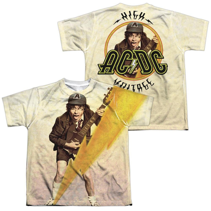 AC/DC Higher Voltage Youth All-Over Print T-Shirt (Ages 8-12)
