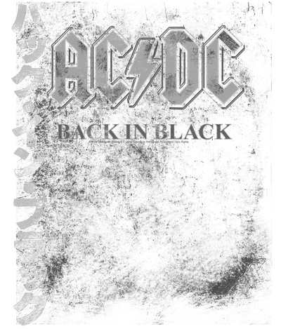AC/DC Back In The Day Kanji Men's Regular Fit T-Shirt