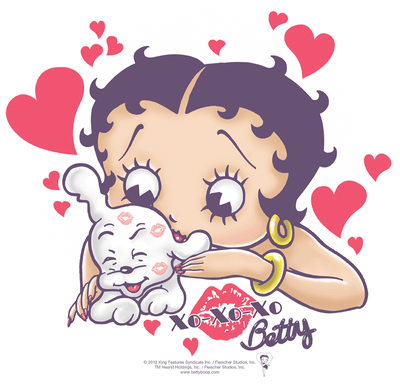 Betty Boop Puppy Love Kid's T-Shirt (Ages 4-7)