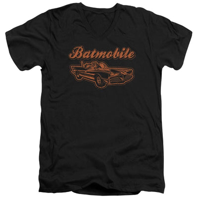 Batman Batmobile Men's V-Neck T-Shirt