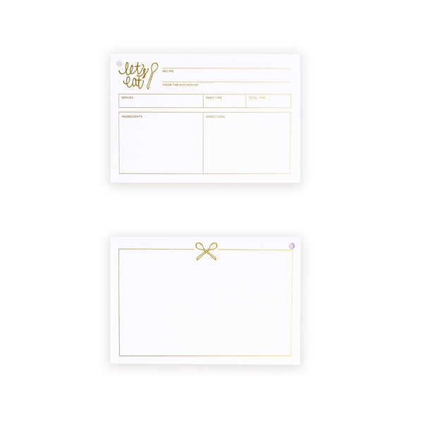 let's eat recipe card refill