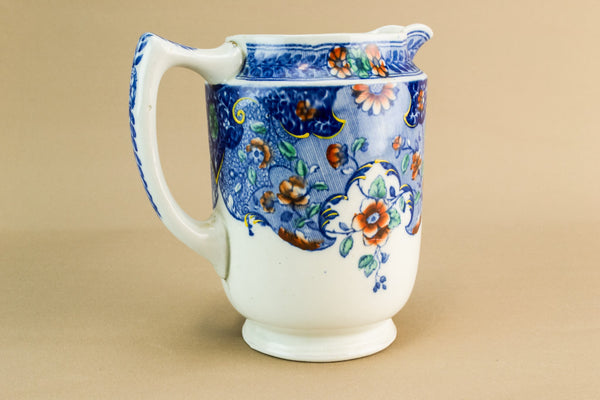 Small blue and white jug