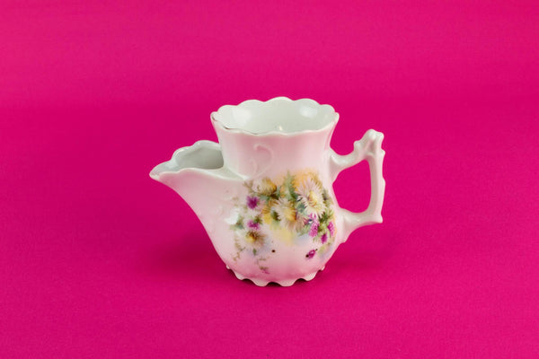 Daisies shaving mug, German early 1900s