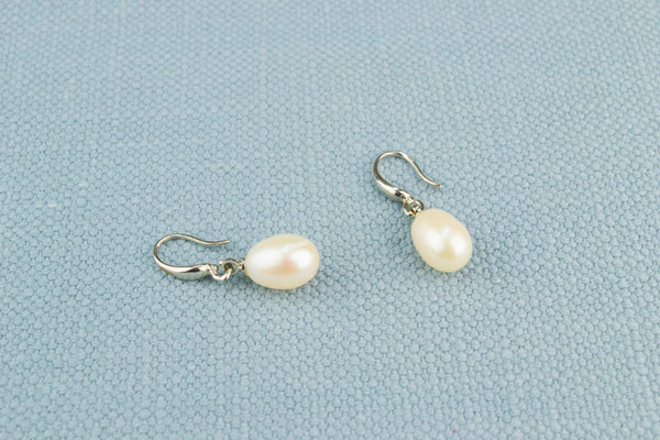 Fresh Water Pearl and Steel Earrings