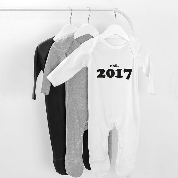 personalised baby grow year