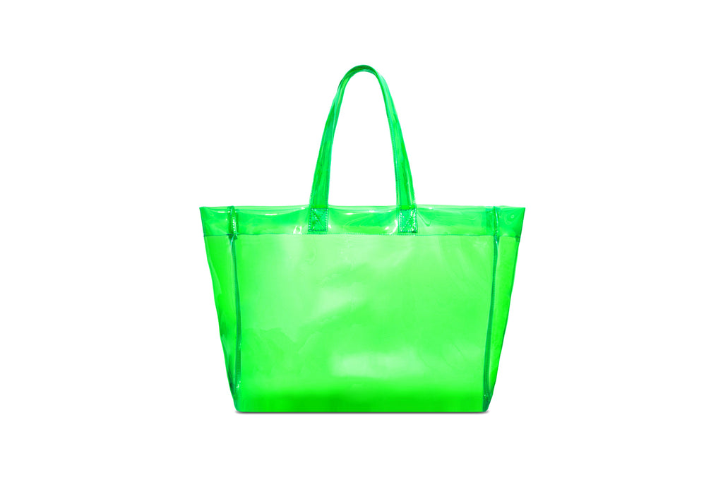 'XPX PVC DIMENSIONAL TOTE CLEAR GREEN