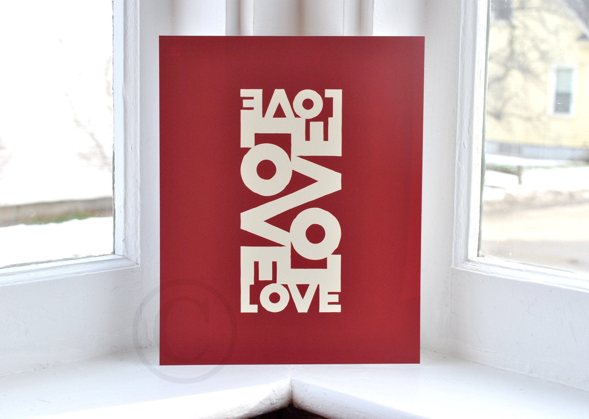 "Love Energy Red Art Print 8"" x 10"" Wall Poster"