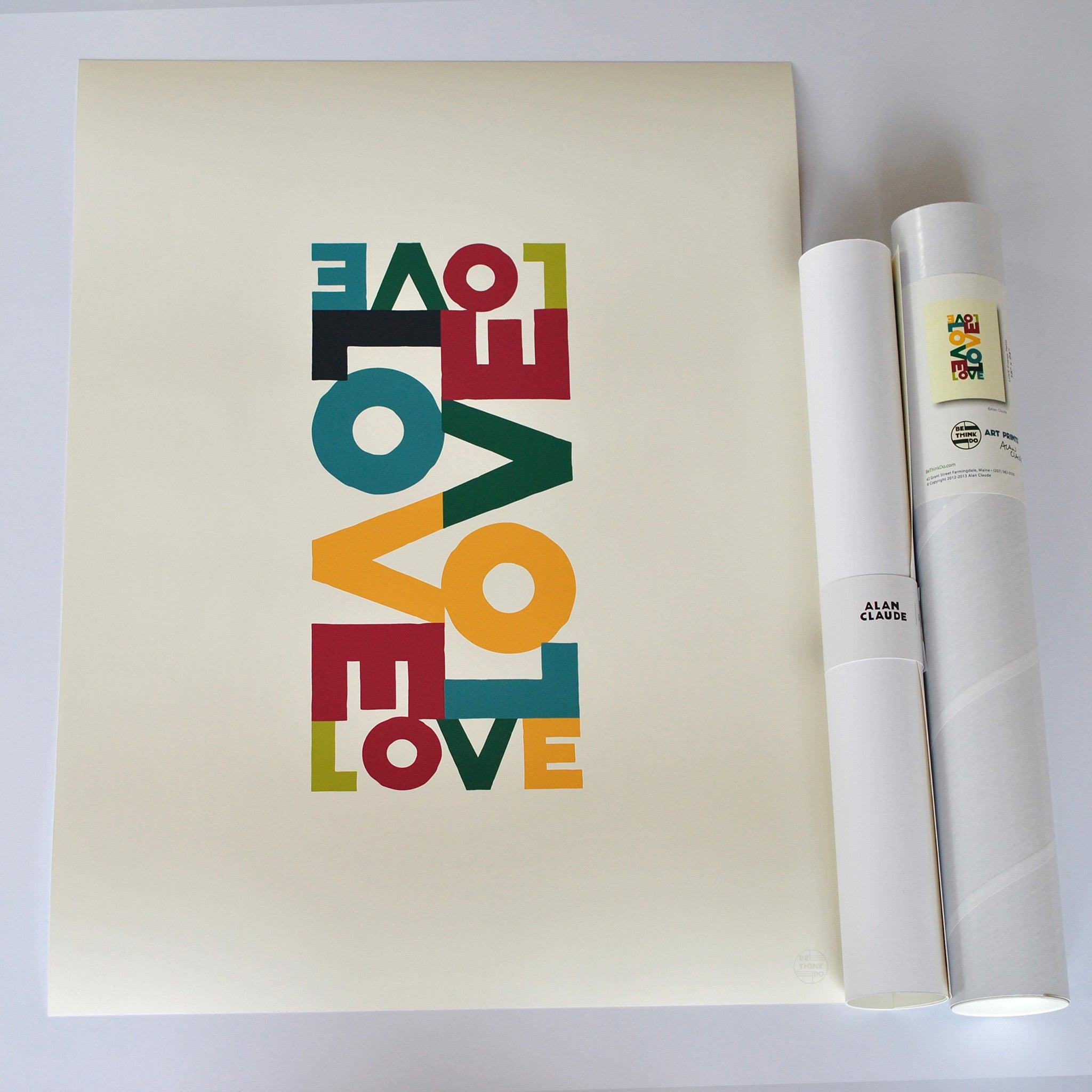 "Love Energy Retro Art Print 18"" x 24"" Wall Poster"