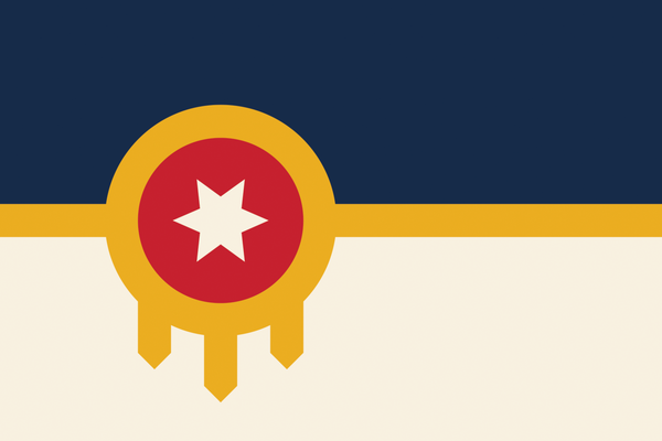Tulsa Flag  Shield Ornament