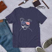 Patriotic Dog Short-Sleeve Unisex T-Shirt