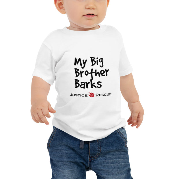 My Big Brother Barks Baby Jersey Short Sleeve Tee