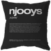 Nitty Gritty Njooys | Pillow [Black Edition]