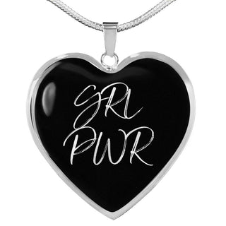 GRL PWR | Luxury Heart Necklace [Silver + Gold]