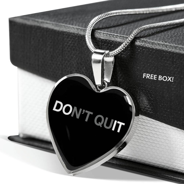 Don't Quit | Luxury Heart Necklace [Silver + Gold]