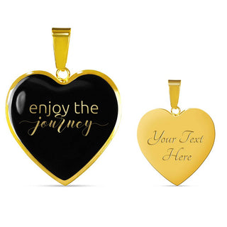 Enjoy The Journey | Luxury Heart Necklace [Silver + Gold]