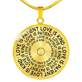 Love Is Patient Love Is Kind | Mantragon Necklace [Silver + Gold]