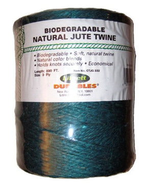 Librett Biodegradable Green Natural Jute Twine, 890 FT - 65oz - 3 Ply
