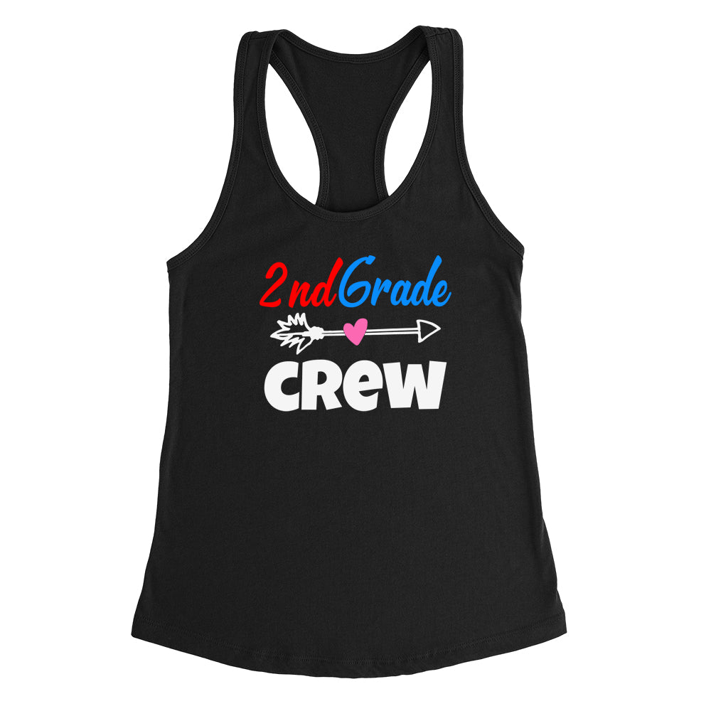 2nd grade crew Ladies Racerback Tank Top