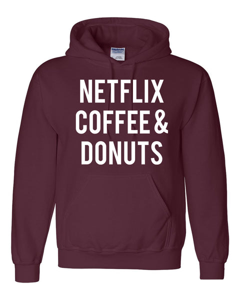 Netflix coffee and donuts Hoodie