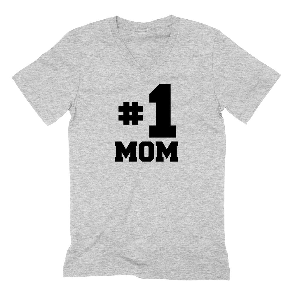 #1 mom, number one mom V Neck T Shirt