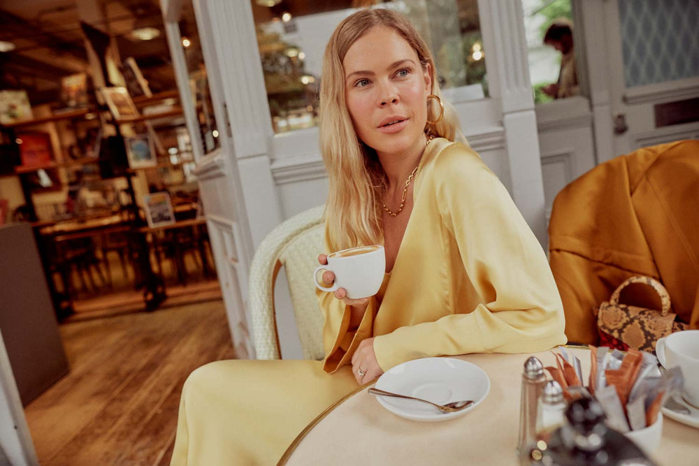 As seen on Jessie Bush & Erin Wasson, the rattan dress is perfect for all occasions - Discover the rest of the dresses collection here - Asceno London