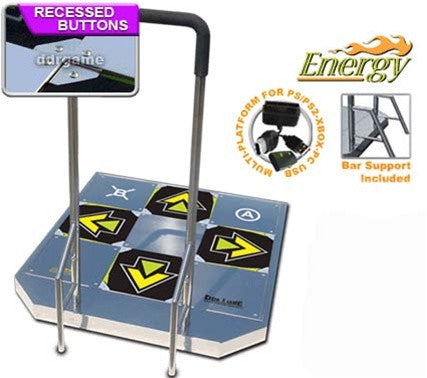 Energy Arcade Metal DDR Dance Pad - Wii, XBox, PS2, PC/Mac