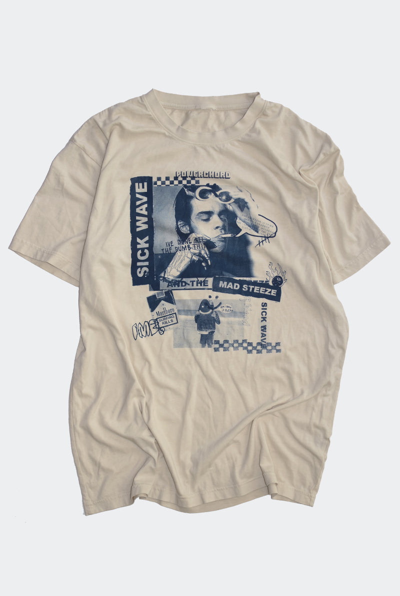 "DEAD RIGHT HAND TEE ""NICOTINE"""