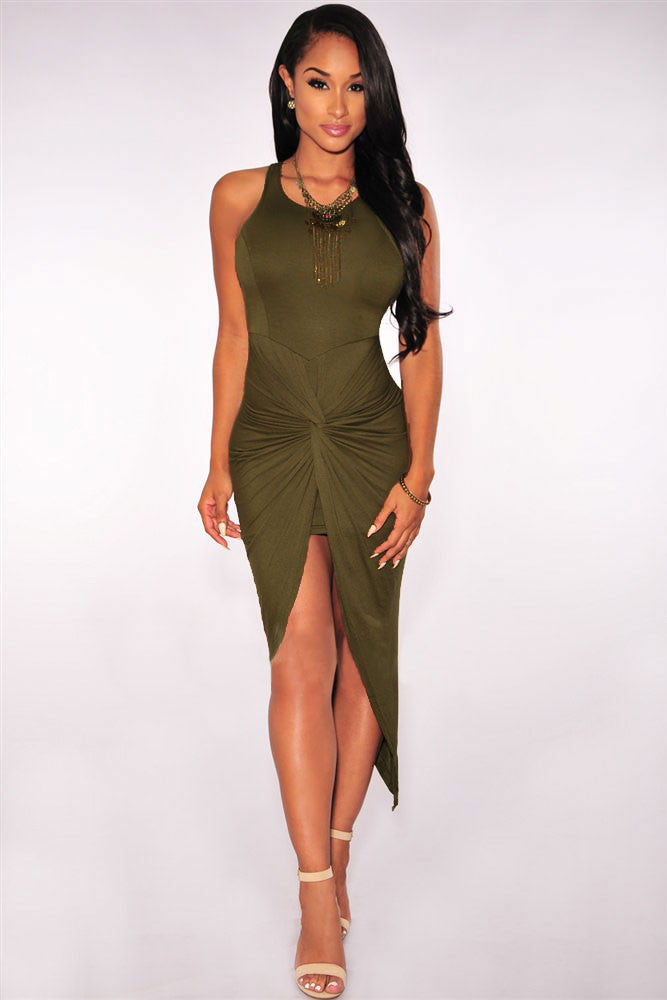 Jahnell's Closet Knotted Slit Dress