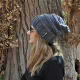 Slouchy Beanie -Traditional grey