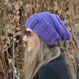 Slouchy Beanie -Traditional purple
