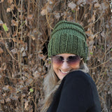 Slouchy Beanie -Traditional olive