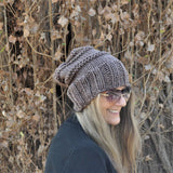 Slouchy Beanie -Traditional brown
