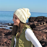Slouchy Beanie -Traditional cream