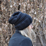 Slouchy Beanie -Traditional black