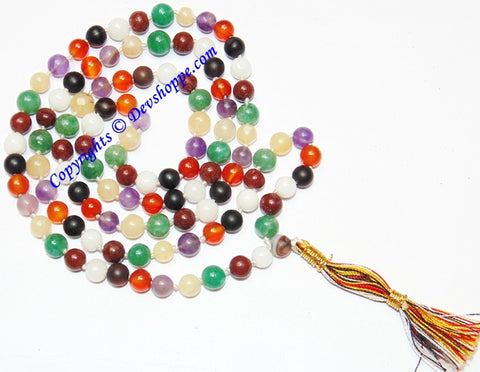 Dynamic Chakra prayer beads mala for balancing the body's chakras - Devshoppe