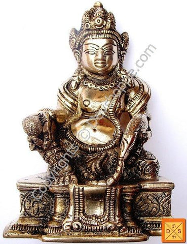 Lord Kubera idol in ashtadhatu - Devshoppe