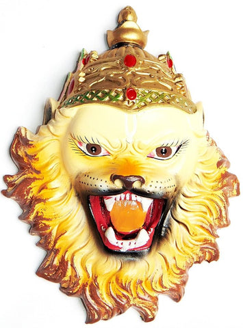 Sri Narsimha (Narasimha) face mask / wall hanging 7.5 inches - Devshoppe - 1