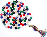 Mixed Agate (Hakik) mala for multiple benefits - Devshoppe - 1