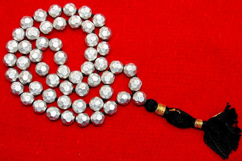 Parad mala 11 mm sized beads in diamond cutting , Superb quality - Devshoppe - 1