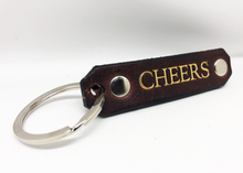 Leather Cheers Key Chain