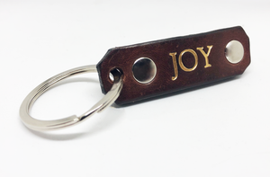 Leather Key Chain: Joy