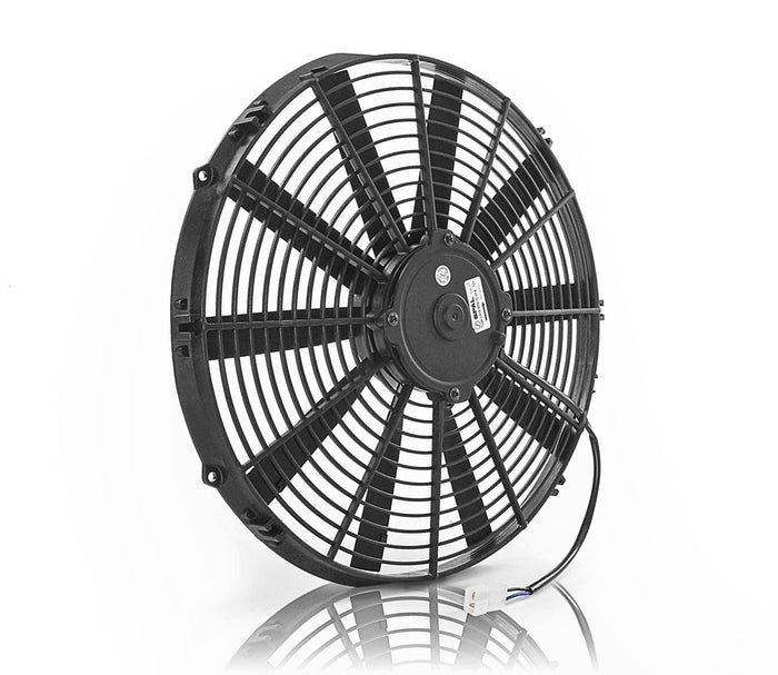 "16"" Euro Black Medium Profile Electric Puller Fan"