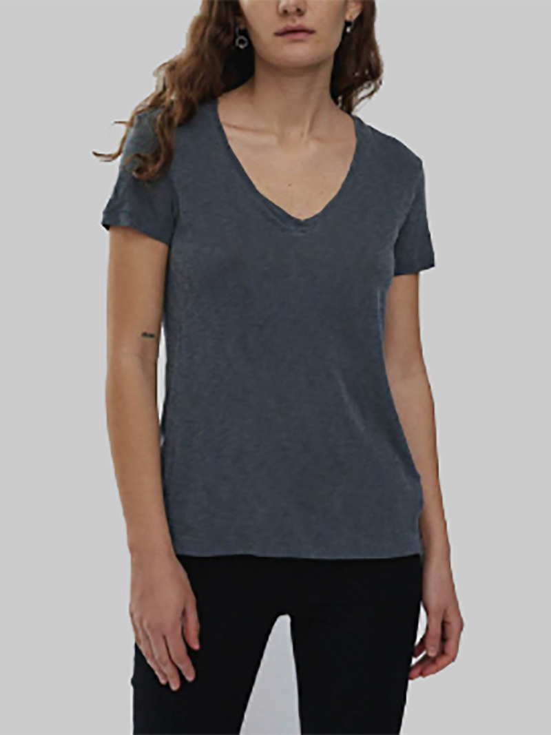 Stateside Slub V-Neck | Charcoal