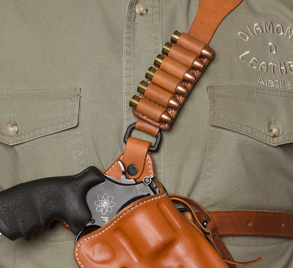 Guide's Choice™ leather chest holster ammo reload